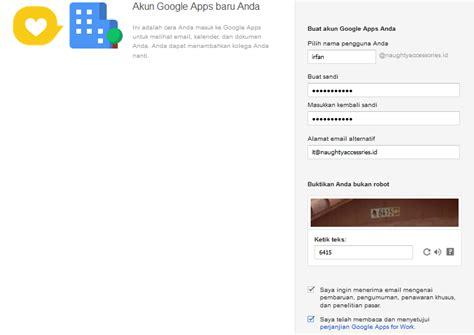 membuat akun google apps cara setting email menggunakan nama sendiri domain