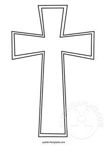 cross template christian cross template easter template