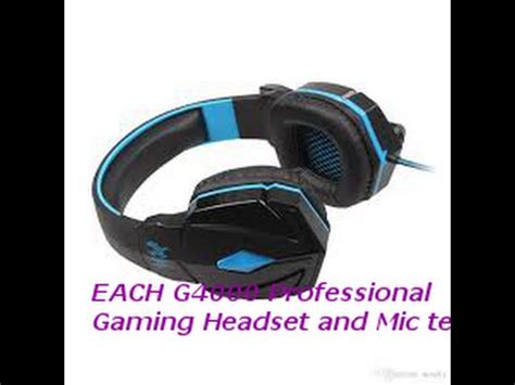 Headset Plus Microphone by Review Of The Each G4000 Professional Gaming Headset Plus