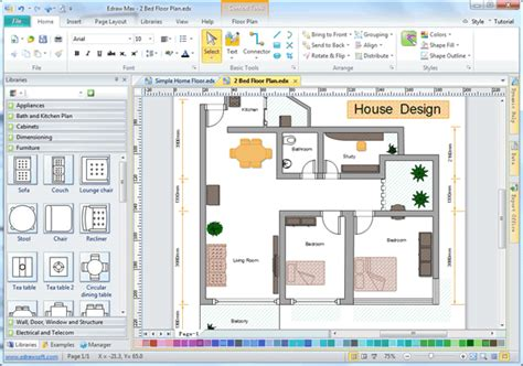 free home blueprint software easy house design software