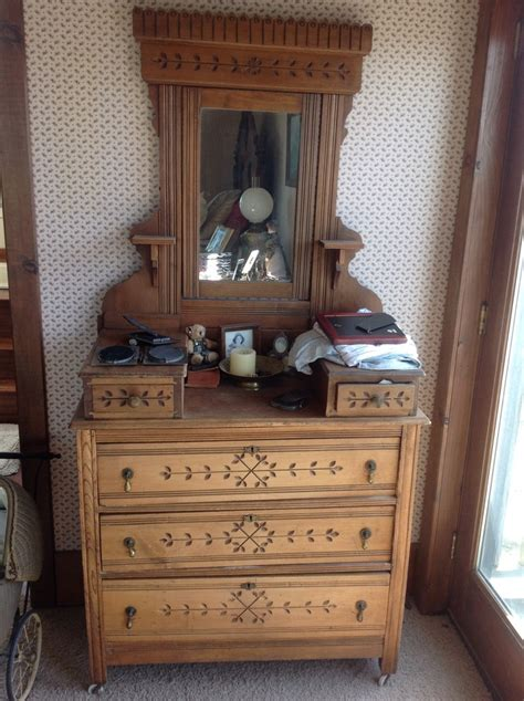 Antique Dresser With Mirror On Wheels by Eastlake Dresser With Mirror Porcelain Castor Wheels