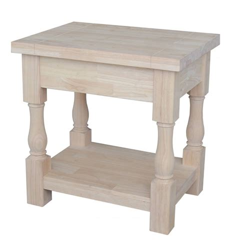 tuscan accent tables 24 inch tuscan end table bare wood fine wood furniture