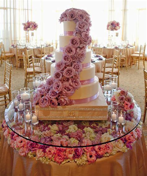 wedding cake table 2 stylish wedding cake table decorations