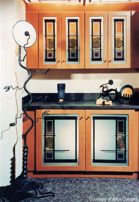 Stained Glass Kitchen Cabinets | kitchen cabinet with stained glass kitchen design photos