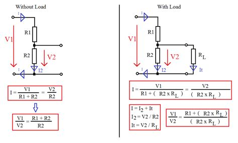 voltage divider resistors electronic circuits basic calculations and equations attila s projects