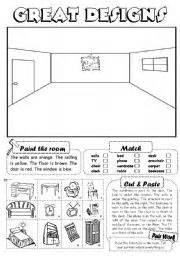 home design worksheet english teaching worksheets furniture