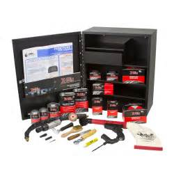14 602 tire repair cabinet with product assortment