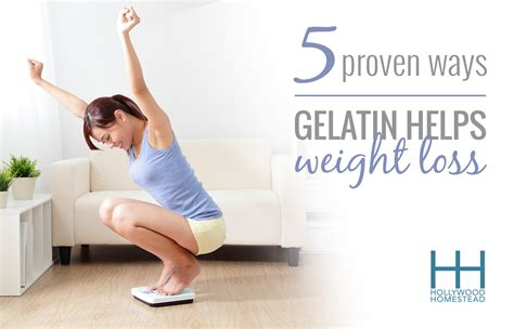 proven ways gelatin helps weight loss hollywood homestead