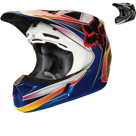 fox helmet motocross fox racing v3 kustm motocross helmet helmets