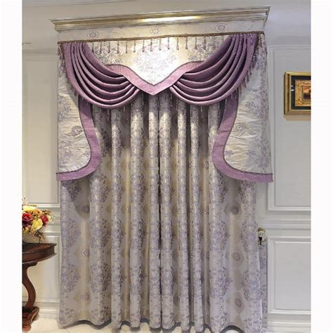 beautiful curtains beautiful curtains floral jacquard light purple polyester