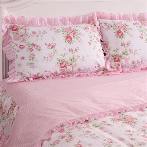 pink shabby chic bedding king queen full twin princess shabby floral chic pink