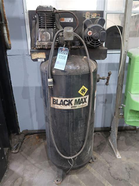 6 hp coleman powermate black max vertical tank air compressor