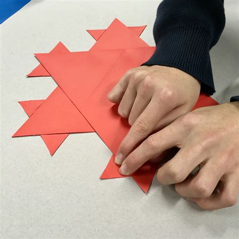 Things To Make With A4 Paper - folding fractals artful maths