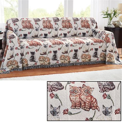 tapestry couch cat tapestry sofa furniture cover by collections etc ebay
