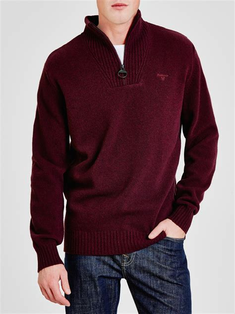 Cotton Lab Essential Hoodie Zipper 2 Tone Maroon 1 barbour essential lambswool half zip jumper in purple for lyst