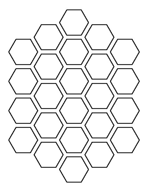 template pattern honeycomb pattern use the printable outline for crafts