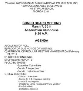 notice of board meeting template board meeting agenda sles annual meeting agenda