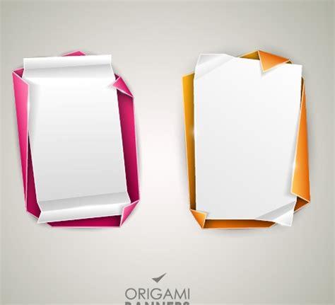 Origami Banner Vector - creative origami banner design vector 05 vector banner