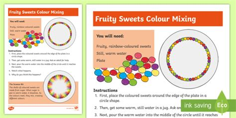 design an experiment ks2 ks1 fruity sweets colour mixing science experiment challenge