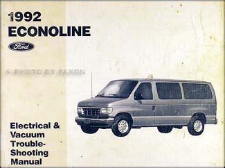 motor auto repair manual 1992 ford e series interior lighting 1992 ford econoline foldout wiring diagram van e150 e250 e350 club wagon