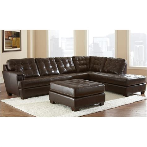 Soho 3 Piece Leather Sofa Set In Ebony Brown So870s C T Steve Silver Leather Sofa