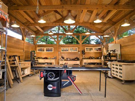 2 Car Detached Garage alaskan timber frame workshop fine homebuilding
