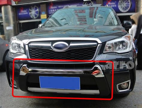subaru forester grill guard exterior vti s abs plastic chrome front rear bumpers