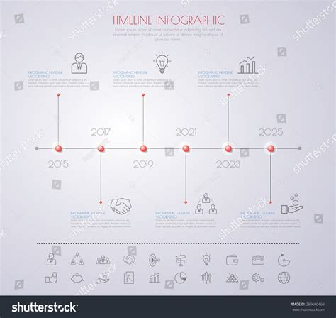 numbers timeline template color step design clean number timeline stock vector
