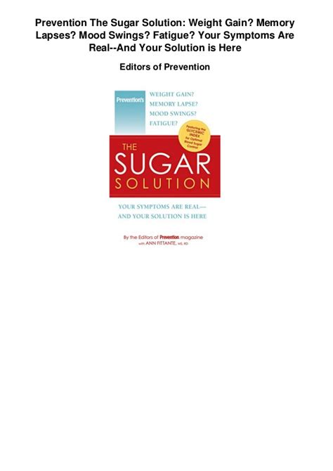 mood swings and tiredness prevention the sugar solutionweight gain memory lapses