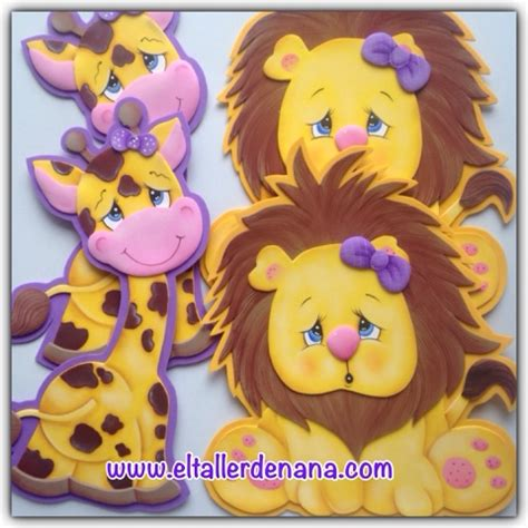 imagenes de jirafas para hacer en foami el taller de nana jirafa y le 243 n en foami