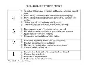 Rubric For Research Paper 2nd Grade by Rubrics Second Grade Writing And Beginning Middle End On