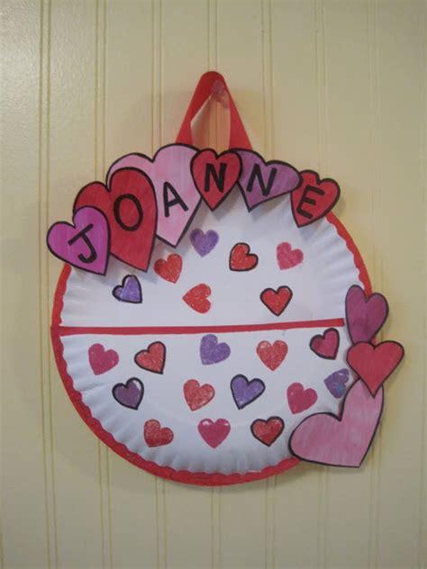 valentines card holder crafts for paper plate s day card holder