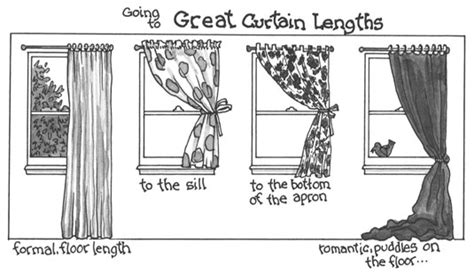 how to choose curtain width how to choose the length of your curtains dummies
