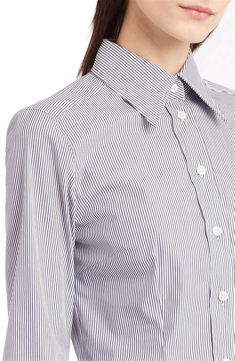 Termurah Dolice Stripe Blouse dolce gabbana stripe stretch cotton blouse s blouses shirts highcollars