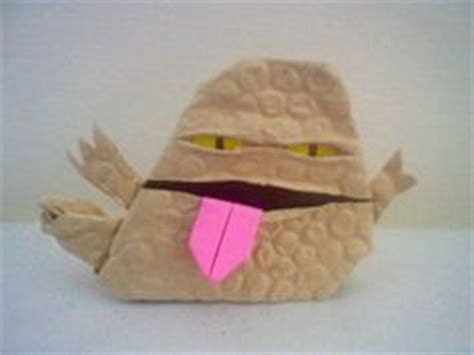 Origami Yoda Finger Puppet - sf brioboy1s kit fisto and mace windu instrux origami