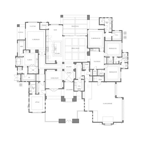 transitional floor plans transitional home design