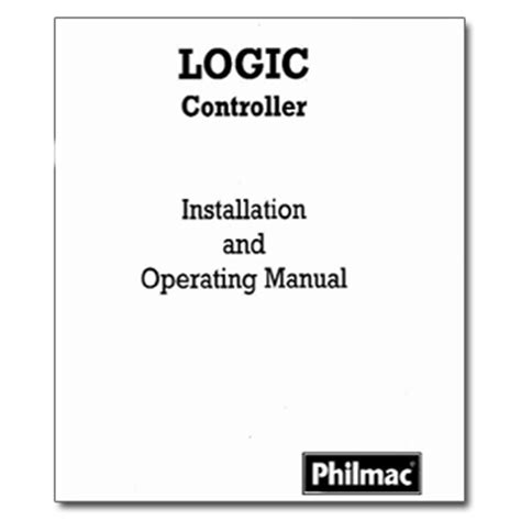 the logic manual philmac logic manual the watershed official controller manuals library