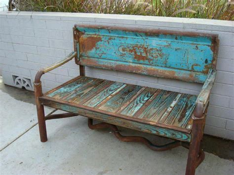 bench made from truck tailgate a bench made from a truck tailgate sbg loves auto wrecking yards and faux patina