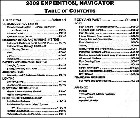 car repair manual download 2005 ford expedition navigation system 2009 ford expedition lincoln navigator repair shop manual 2 volume set