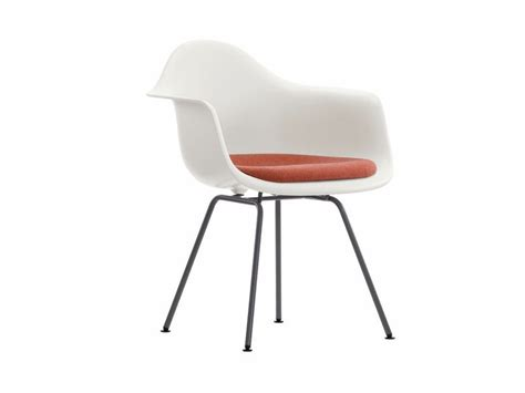 Vitra Style Chairs by Dax Chair With Integrated Cushion Eames Plastic Armchair