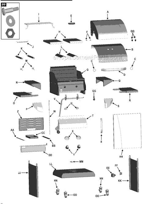 char broil parts diagram char broil 463246909 parts list and diagram