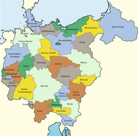 map of german provinces gro 223 deutschland map alternate history discussion