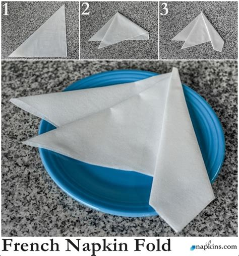 Fold Paper Napkins Fancy - 16 best basic napkin folds images on fancy