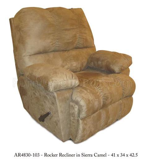 modern rocker recliner camel fabric elegant modern rocker recliner