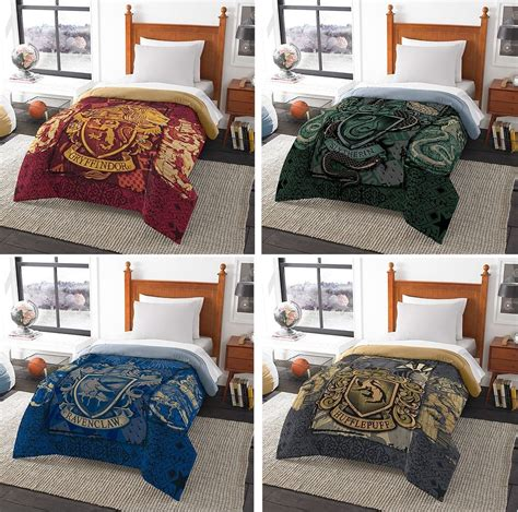 harry potter bed sheets harry potter hogwarts house comforter gryffindor slytherin