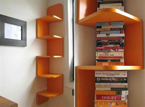 space saving corner shelves design ideas corner shelf with bookshelf lighting and small bookshelf