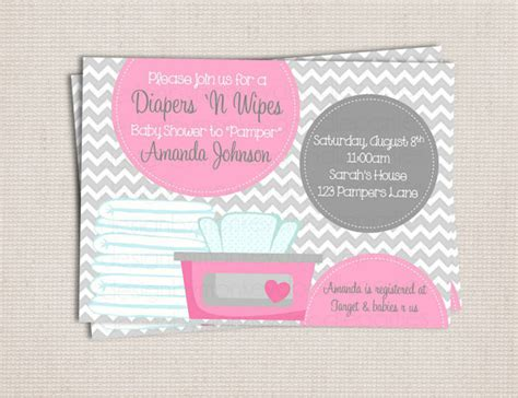 diapers and wipes baby shower items similar to and wipe gray pink baby