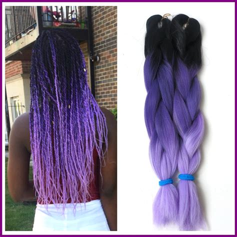 purple ombre braiding hair inventory free shipping 5packs lot 24 quot 100g ombre