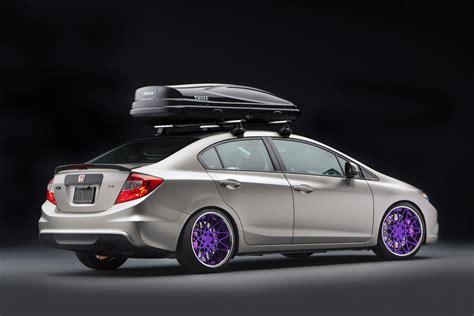 custom honda civic si honda debuts seven 2012 civic si coupes and sedans at sema