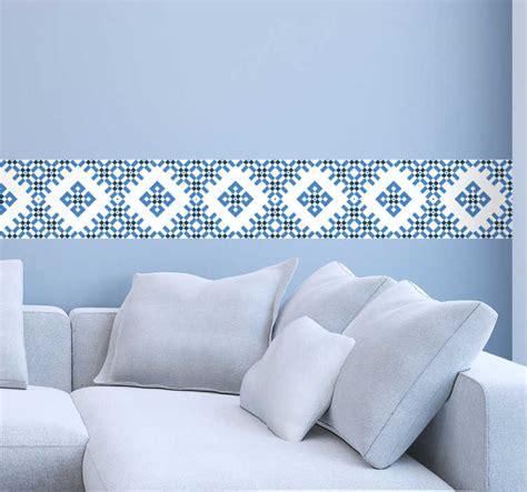 vinil decorativo azulejos azuis  brancos tenstickers